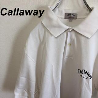 キャロウェイゴルフ(Callaway Golf)のCallaway GOLF キャロウェイ ビッグシルエット ポロシャツ ホワイト(ポロシャツ)