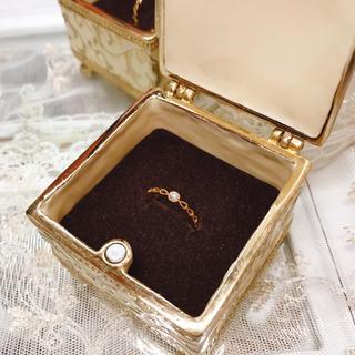 アガット(agete)のピンキーリング K18 ダイヤ(リング(指輪))