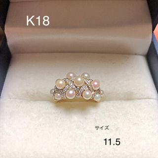 TASAKI - K18  ダイヤ パール リング