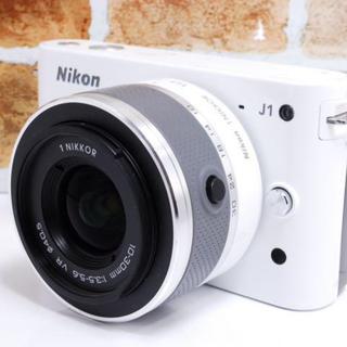 Nikon - 【美品!】人気のホワイト Nikon1 J1 レンズキット