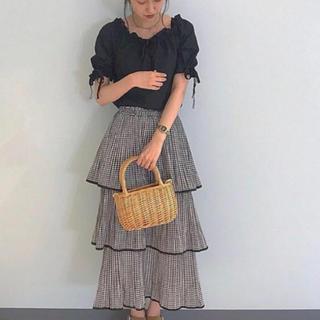 snidel - ギンガムチェック  フリルマーメイドスカート