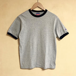 Champion - 1度着用の美品 Champion /チャンピオン Tシャツ S グレー×ネイビー