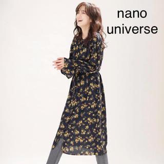 nano・universe - 【nano・universe ナノユニバース】フラワープリントワンピース 38