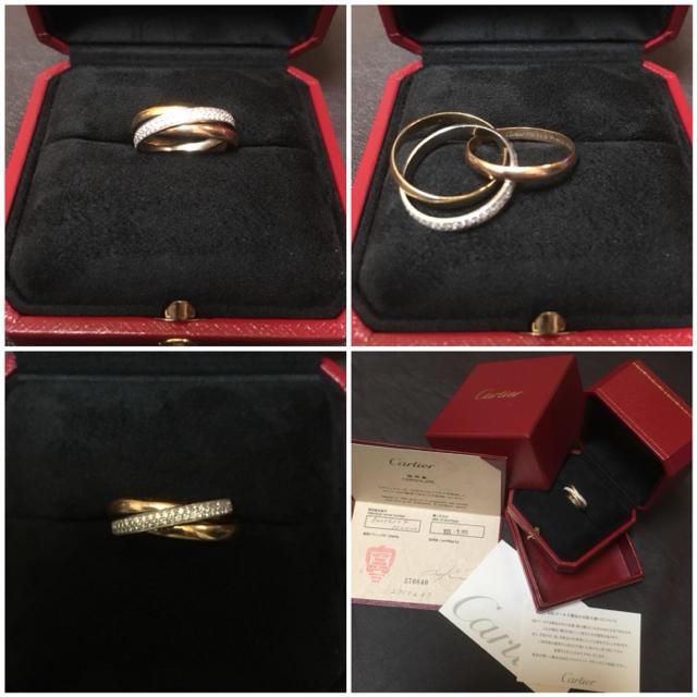 Cartier(カルティエ)のカルティエ トリニティ ダイヤモンド リング 3ゴールド SM レディースのアクセサリー(リング(指輪))の商品写真