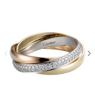 カルティエ(Cartier)のカルティエ トリニティ ダイヤモンド リング 3ゴールド SM(リング(指輪))