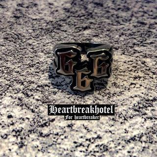 ♥️ Vintage Silver Devil Number Ring(リング(指輪))