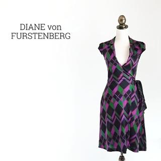 ダイアンフォンファステンバーグ(DIANE von FURSTENBERG)のDIANE von FURSTENBERG ラップワンピース(ひざ丈ワンピース)
