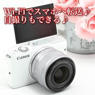 Canon - ☆人気のカラー☆写真をスマホへ転送☆自撮りも☆キヤノン EOS M10