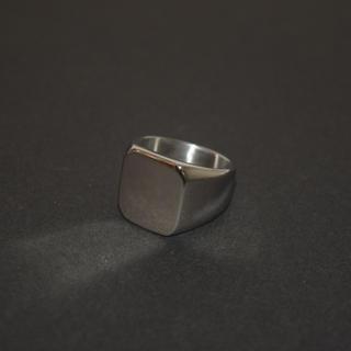 スクエアリング ステンレス 指輪 316L シルバー ストリート サーフ 21号(リング(指輪))