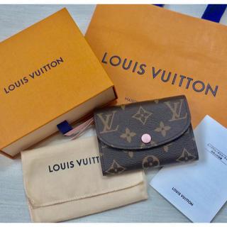 LOUIS VUITTON - ほぼ未使用 ルイヴィトン モノグラム  ポルトモネ ロザリローズバレリーヌ 財布
