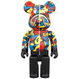 A BATHING APE - MEDICOM TOY CAMO SHARK BE@RBRICK 400%