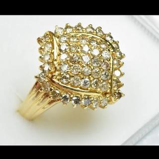 K18 ゴールド 1.00ct ダイヤモンドリング 15号 指輪