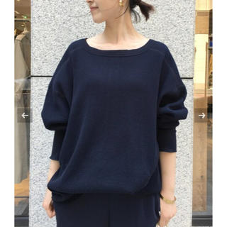 L'Appartement DEUXIEME CLASSE - AMERICANA THERMAL BACK HENLEY NECK ネイビー