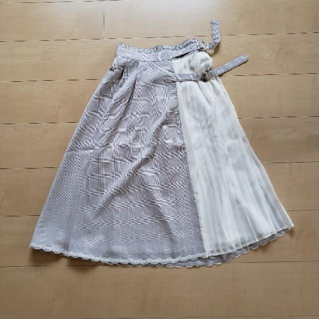 LIZ LISA(リズリサ)のチェック×シフォンプリーツスカート レディースのスカート(ひざ丈スカート)の商品写真