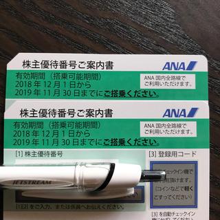 エーエヌエー(ゼンニッポンクウユ)(ANA(全日本空輸))のANA 株主優待券(2枚)(航空券)
