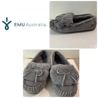 EMU - emu  グレーリボン モカシン