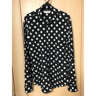 Saint Laurent - 美品エディ期 16SS サンローランパリ ポルカドットカットオフシャツ 36