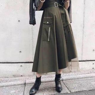 アメリヴィンテージ(Ameri VINTAGE)の未使用・売り切り・ミリタリースカート(ロングスカート)