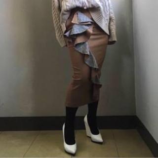 アメリヴィンテージ(Ameri VINTAGE)のタグ付き新品 AMERI BLYTHE RUFFLE TIGHT SKIRT(ロングスカート)