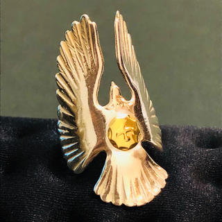 ゴローズ(goro's)の送料無料 大特価 ゴローズ  金メタル付き イーグルリング 15号(リング(指輪))