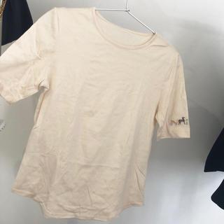 エルメス(Hermes)のHERMES マルジェラ期 ベージュ tシャツ 馬(Tシャツ(半袖/袖なし))