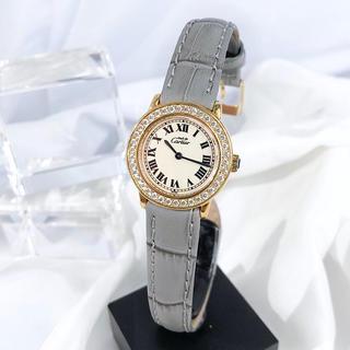 Cartier - 【仕上済/ベルト新品】カルティエ ロンド ゴールド ダイヤ レディース 腕時計