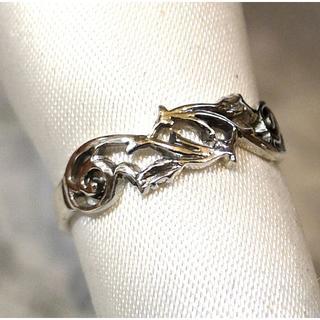SR1817 指輪シルバー925刻リング 8号 唐草 透かし彫り 送料無料(リング(指輪))