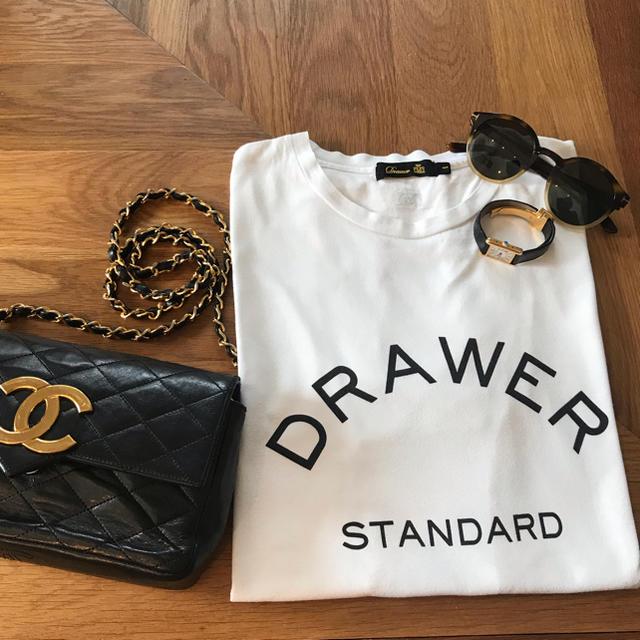 Drawer(ドゥロワー)のドゥロワー  ロゴ Tシャツ レディースのトップス(Tシャツ(半袖/袖なし))の商品写真