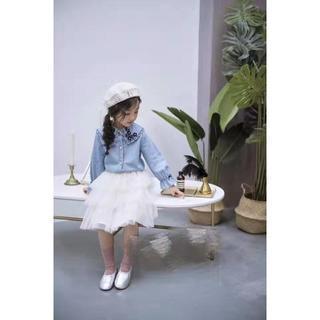 CHANEL - chanelカウボーイ上着+網紗のスカート天使