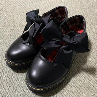 ロリィタ   厚底シューズ  Sサイズ ブラック(ローファー/革靴)