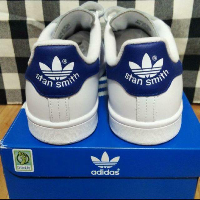 adidas(アディダス)の【新品】adidasスタンスミスベルクロ(ブルー:28cm) メンズの靴/シューズ(スニーカー)の商品写真