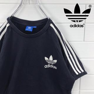 adidas - adidas アディダス Tシャツ ビッグサイズ サイドライン ワンポイントロゴ