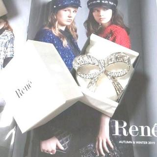 René - 新品ReneルネスワロフスキーリボンブローチFOXEYフォクシー