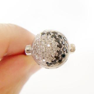 【未使用】中宝研鑑定書付きPt900 ブラックダイヤ×天然ダイヤリング(リング(指輪))