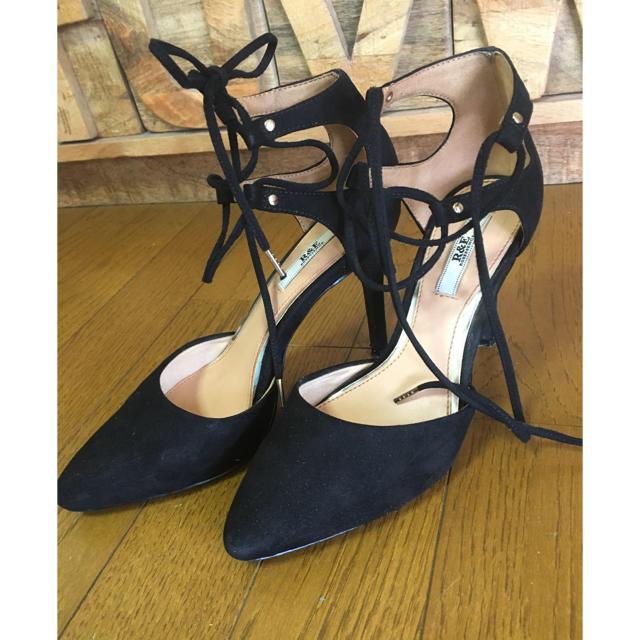 R&E(アールアンドイー)の♡本日限定お値下♡R&E 編み上げ パンプス♡23.0 レディースの靴/シューズ(ハイヒール/パンプス)の商品写真