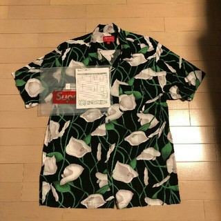 Supreme - Supreme Lily Rayon Shirt Black Lサイズ