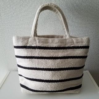 MUJI (無印良品) - インドの手織り ミニトートバッグ