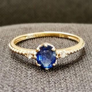 ジュエリーツツミ(JEWELRY TSUTSUMI)のイエローゴールドサファイアリング 7号(リング(指輪))