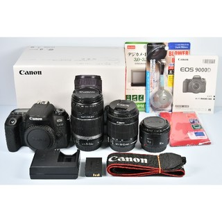 Canon - 新品ボディ Canon EOS 9000D 標準&望遠&単焦点トリプル