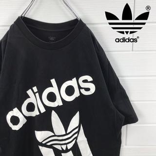 adidas - adidas アディダス Tシャツ ビッグプリント ビッグロゴ トレフォイルロゴ
