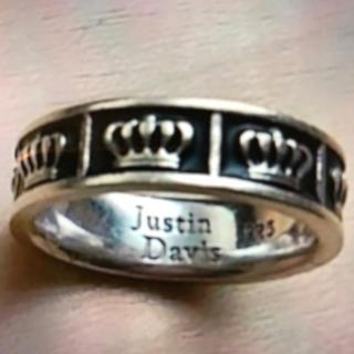 ジャスティンデイビス(Justin Davis)の美品 ジャスティンデイビス リング 8号(リング(指輪))