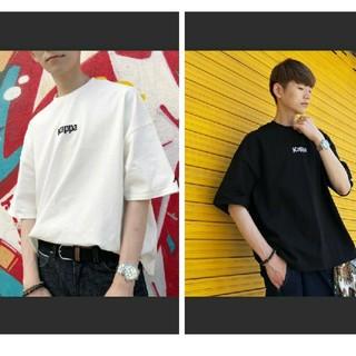 カッパ(Kappa)の2枚セット ☆ Kappa メンズ ビッグシルエット Tシャツ 白 黒(Tシャツ/カットソー(半袖/袖なし))