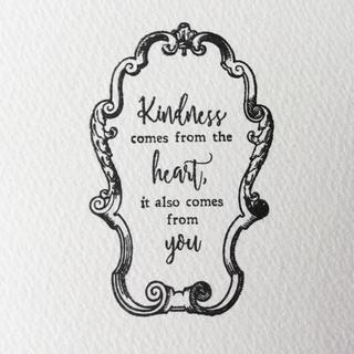 c メッセージスタンプ フレーム付き『Kindness of heart』