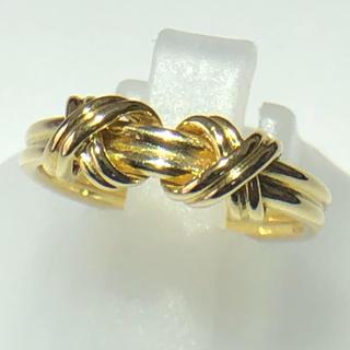 ティファニー(Tiffany & Co.)のティファニー TIFFANY&Co. リボン リング 指輪 K18イエロー(リング(指輪))