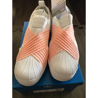 adidas - 【新品未使用】アディダス adidas スリッポン スニーカー 白×ピンク