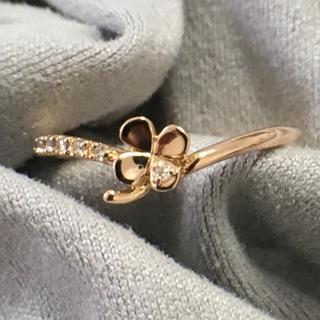 ヨンドシー(4℃)のK18 4°C リング ダイヤモンド リング 指輪 花 ダイヤリング(リング(指輪))