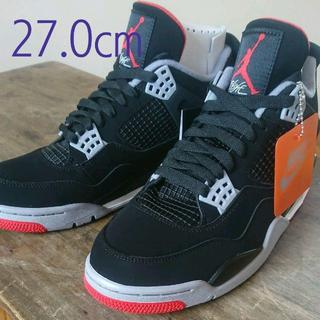 NIKE - AIR JORDAN 4 RETRO BRED 27 nike us9 黒
