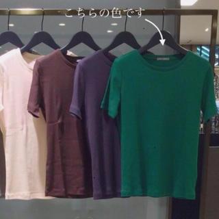 セオリーリュクス(Theory luxe)のtheory luxe 美シルエットTシャツ バジルグリーン (Tシャツ(半袖/袖なし))
