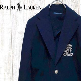 Ralph Lauren - 【01-239】ラルフローレン テーラードジャケット 銀ボタン アメトラ