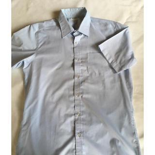 ユニクロ(UNIQLO)のUNIQLO 半袖ワイシャツ ブルー(シャツ)